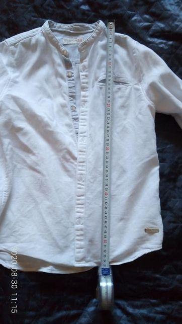 Рубашки стильные белые ZARA для мальчика 9-10 лет, рост 140-146