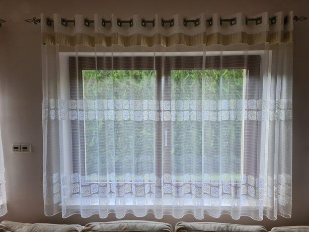 Firanki- stan dobry na 4 okna i drzwi tarasowe wraz z karniszami.