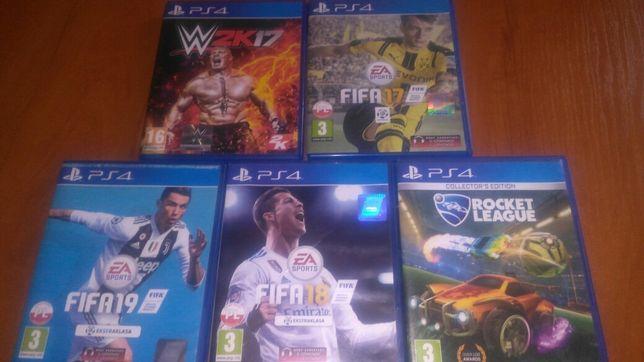 GRY NA PS4 [FIFA,WWE,Rocket League]
