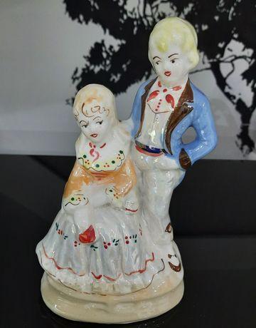 Porcelanowa figurka zakochana para/ stara