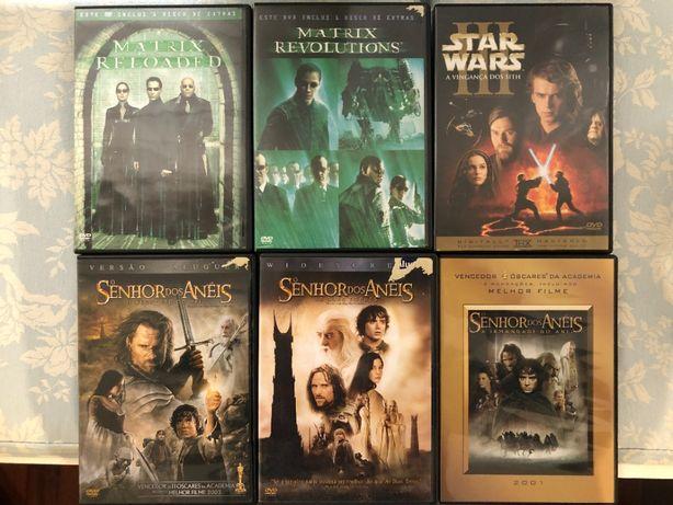 Filmes DVD (Star Wars, Senhor dos Aneis, Matrix)