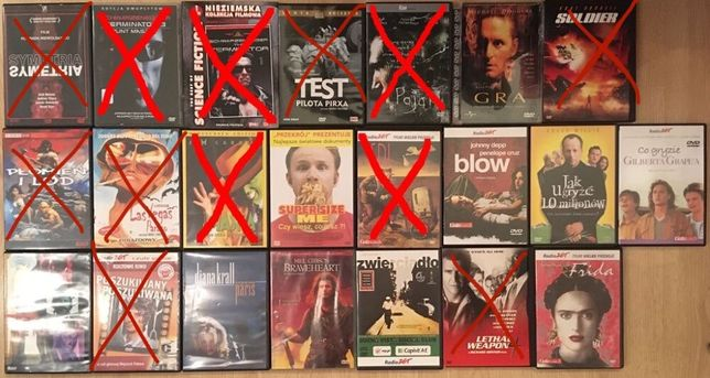 Filmy na DVD różne