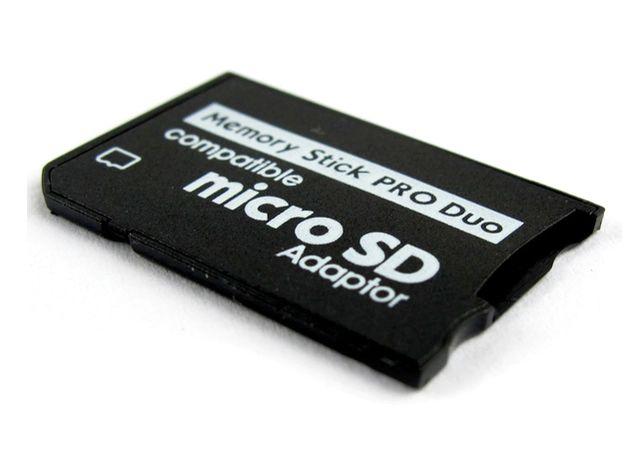 PSP - Adaptador MicroSD para MemoryStick + Caixa - NOVO