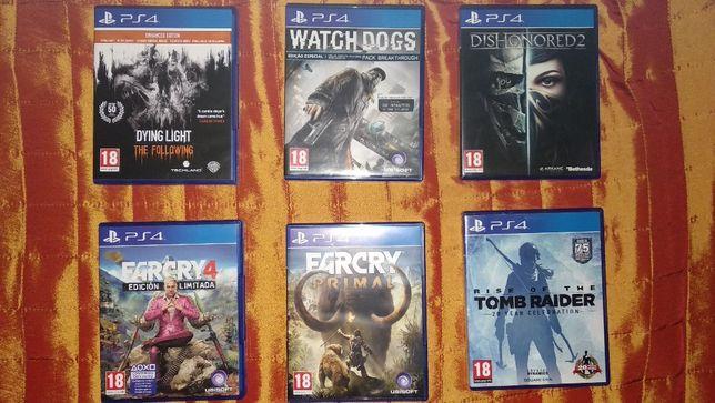 Conjunto Jogos PS4