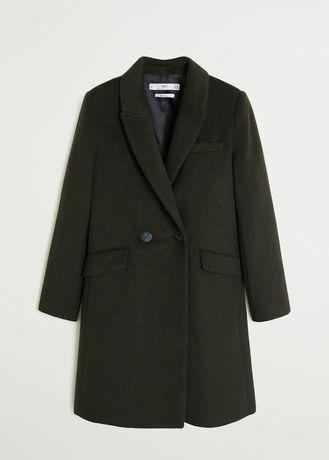 Новое пальто Mango шерсть. S