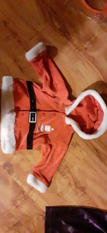 Bluza św Mikołaja 3-6 miesięcy welurowa dla dziecka święta Bożego Naro