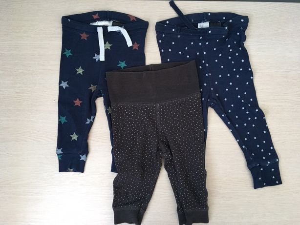 Spodnie legginsy chłopięce H&M rozmiar 62/68