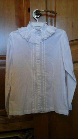 Новая фирменная натуральная белая блузка для девочки 9 - 14 лет