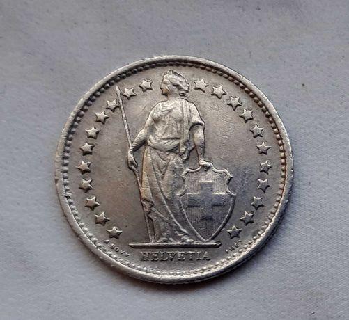174) SZWAJCARIA - 1/2 Franka - 1968 r.