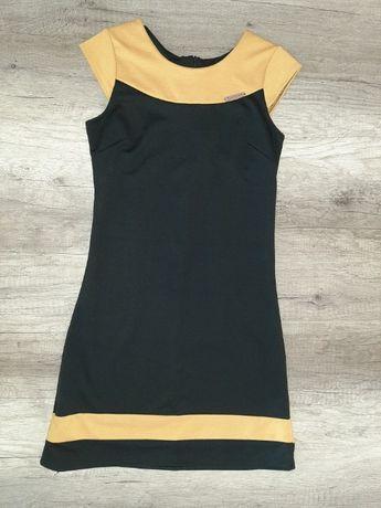 Sukienka żółto –czarna – Fashion rozm. S