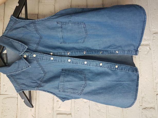 Bluzka z cienkiego dżinsu - Bershka