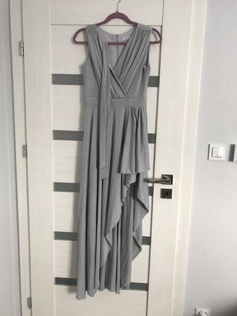 Długa sukienka brokatowa
