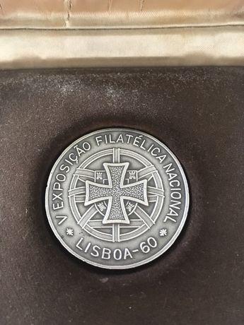 Medalha prata V exposicao filatelica 1960