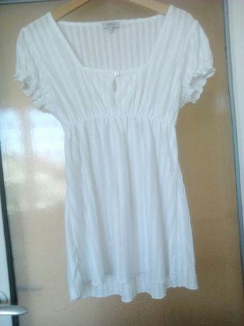 bluzka/tunika biała r 40/42/L/XL