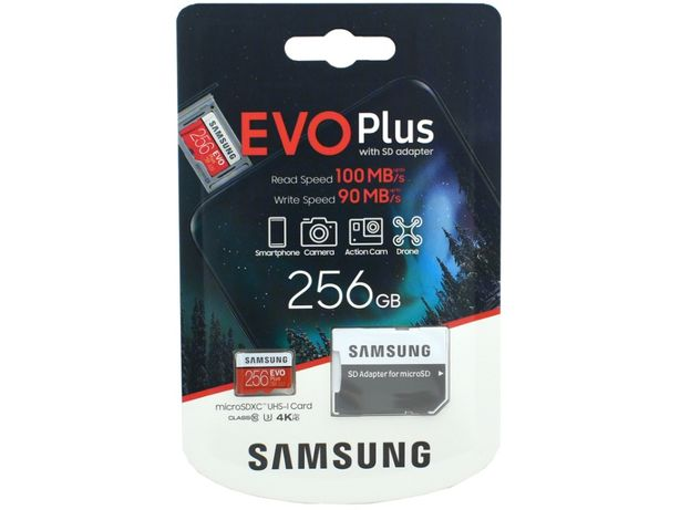Samsung EVO Plus microSDXC 256GB UHS-I Class 10 + SD-адаптер