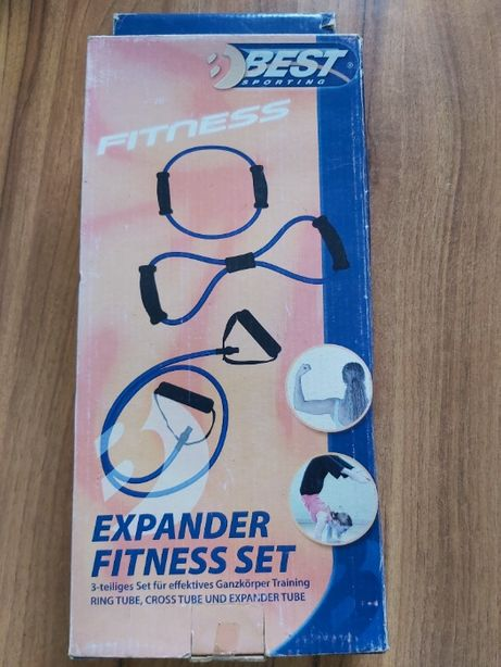 Ekspander do fitness - zestaw 3 sztuki