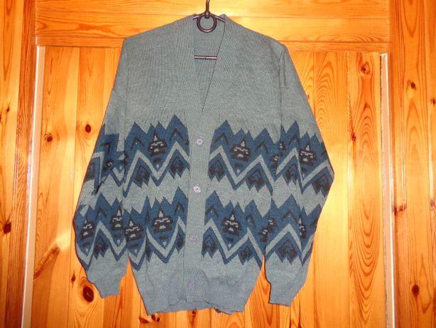 męski sweter XXL rozpinany
