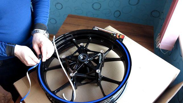 Наклейки на бод авто мото 13-18 радиус на колесо диск