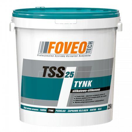 Struktura, Tynk silikatowo-silikonowy 25kg TSS25 FOVEO-TECH -baza biał