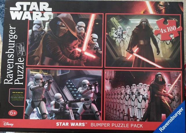Sprzedam puzzle 4x100 Ravensburger Star Wars