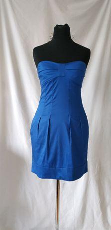 Kobaltowa sukienka w rozmiarze XS