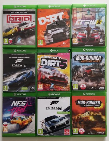 Gry Xbox one Mud Runner Forza NFS Grid Dirt The Crew