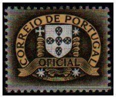 Selo Serviço oficial correio de portugal - selo raro