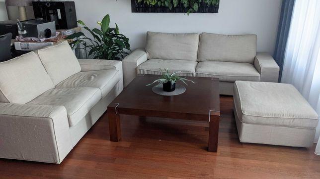 Sofa IKEA KIVIK 2-osobowa, 3-osobowa, pufa beżowa