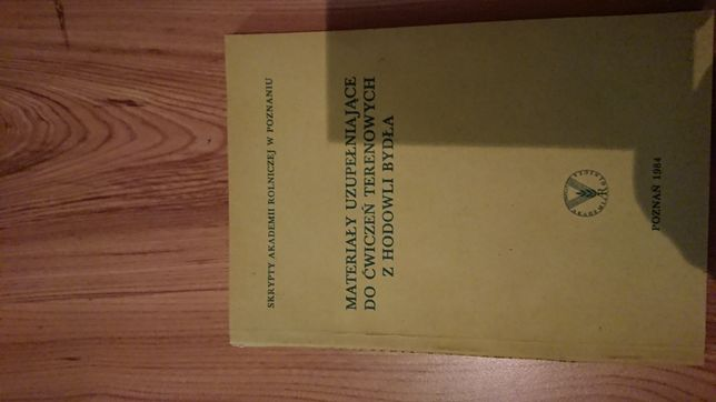 Podręcznik , materiały do hodowli bydla