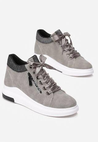 sneakersy szaro- beżowe rozmiar 37 damskie