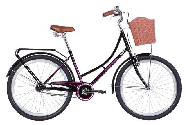 """Велосипед 26"""" Dorozhnik Jade 2021 черно-розовый"""