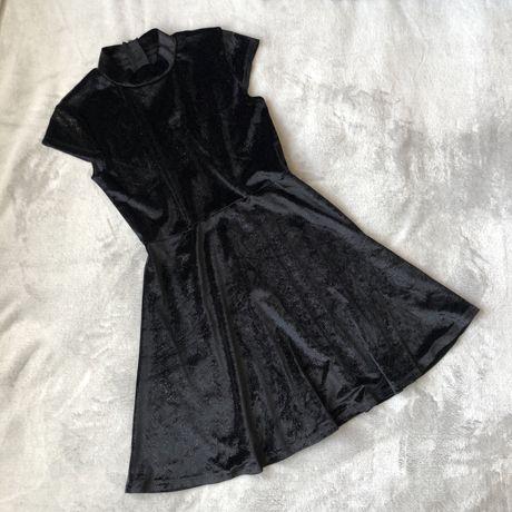 Женское платье велюровое с блестками XS