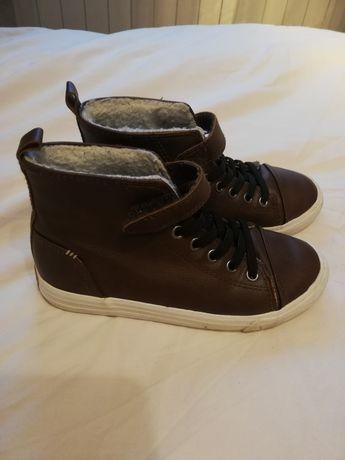 Buty jesienne przejściowe, zimowe ciepłe H&M stan idealny 31 chłopięce