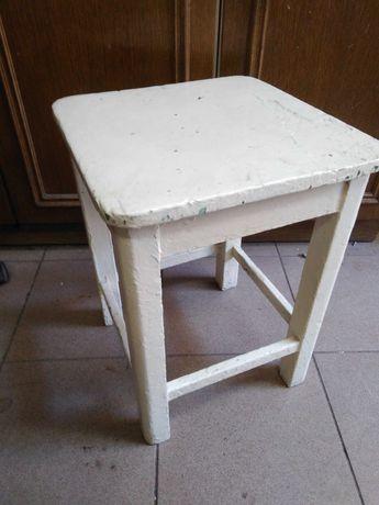 babcine  krzesło, taboret, białe, 2 szt.