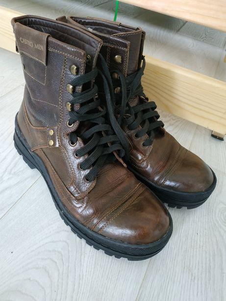 Мужские коричневые кожаные ботинки Castro /Израиль, по стельке 29см