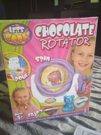 Шоколадная фабрика делать шоколадные яйца и фигуры chocolate rotator