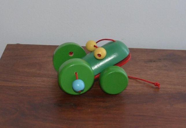 Brinquedo de Madeira Lagarto, com 4 rodas