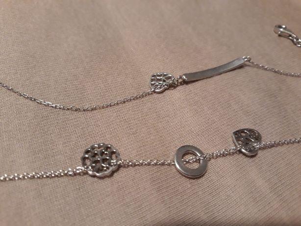Naszyjnik, bransoletka, apart, srebro 925, celebrytka