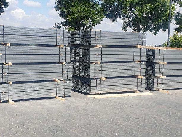 Słupki ogrodzeniowe do paneli 60x40x2400x1,5 mm ocynkowane