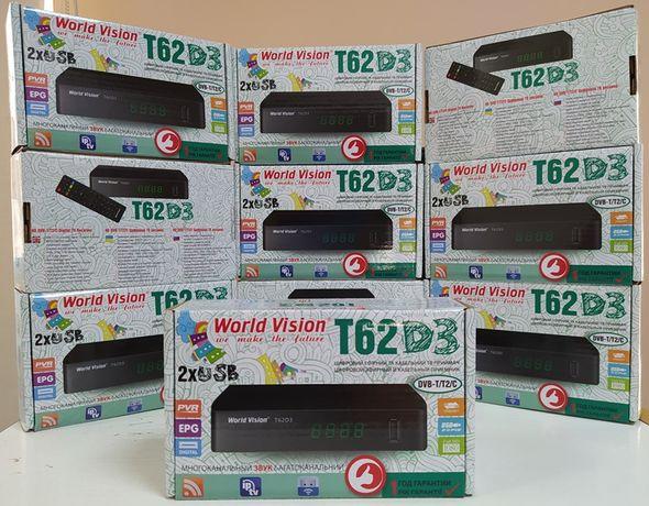 Приставка Т2 DVB-T/T2/C World Vision T62D3 тюнер ресивер YouTube IPTV