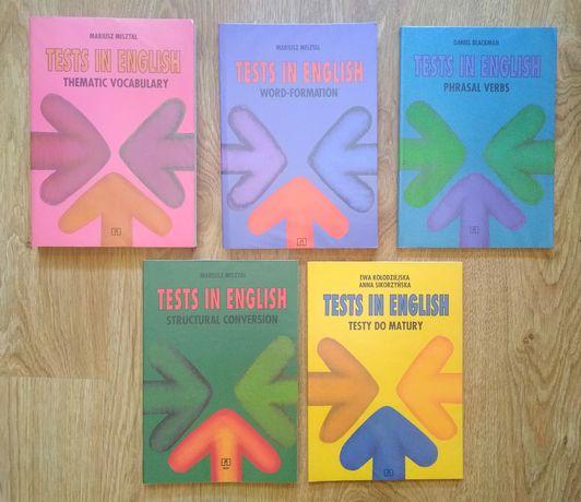 Tests in English - zestaw 5 książek - stan idealny - unikat