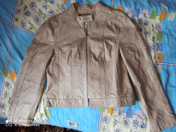 Куртка кожа натуральная,размер 14