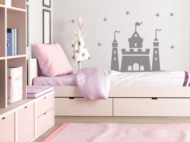 Naklejka na ścianę zamek księżniczki XL