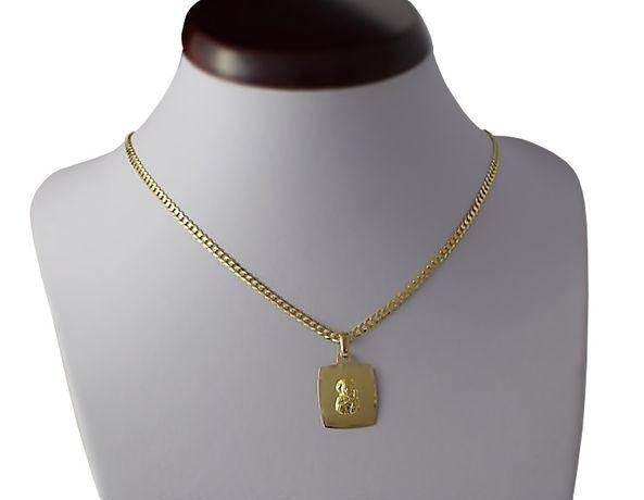 Złoty Łańcuszek pr. 585 z Medalikiem / Nowy z Metką - 50 %