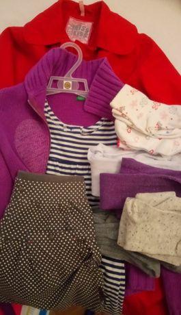 kurtka, ciepły bezrękawnik, bluzki, sweterki, bluzy,128 -134, megapaka