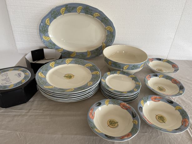 Винтаж: фаянсовая посуда Gien , Франция .