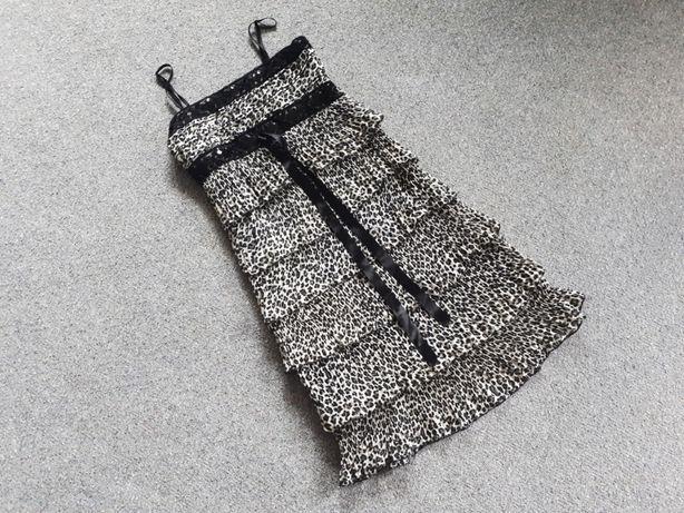 Платье сарафан на лето весна праздник леопард легкое женская одежда