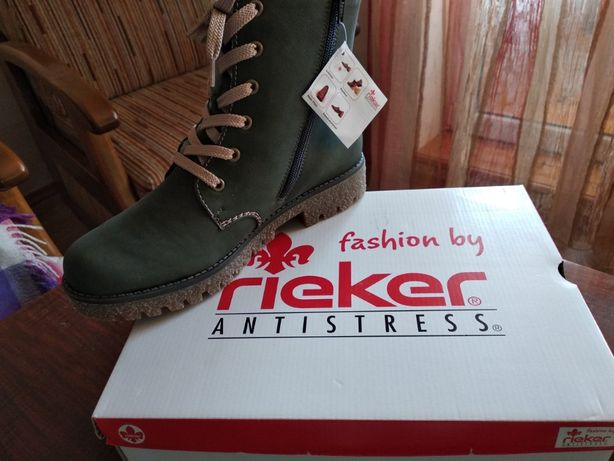 Ботинки Rieker зимние натуральный мех 39 размер