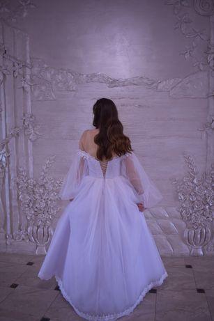Свадебное платье, платье на роспись,весільна сукня.