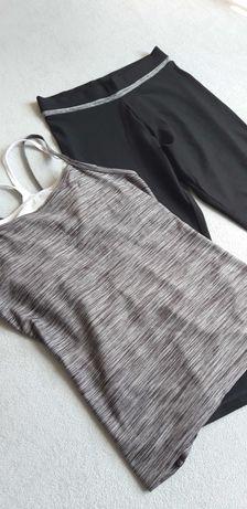 Zestaw sportowy - Koszulka z topem i legginsy, roz. M/38, F&F active